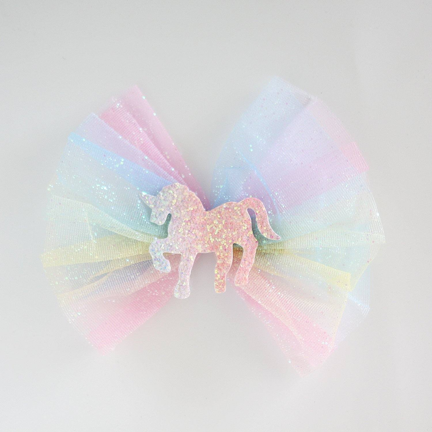 Unicorn Rainbow Hair Clip (Pastel)