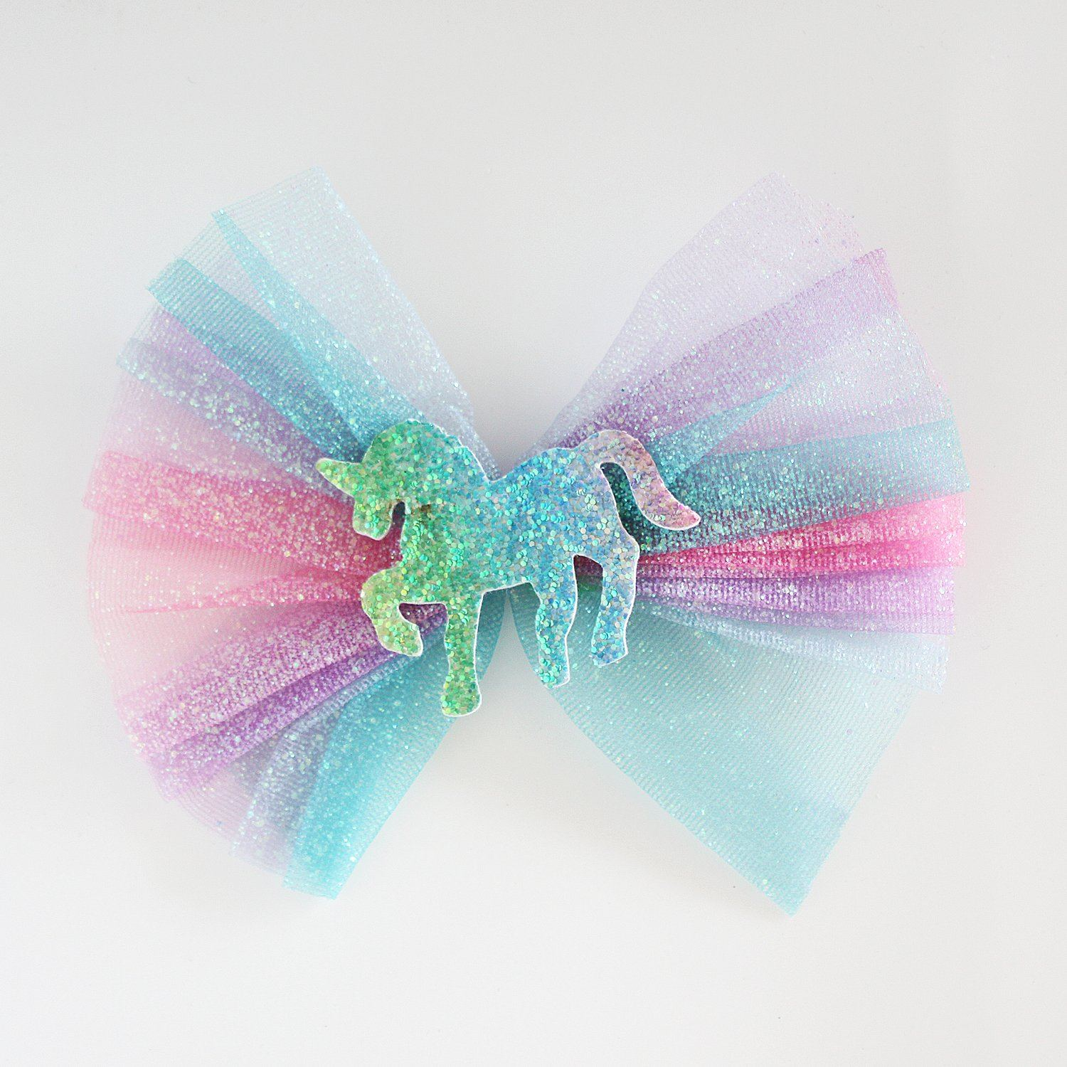 Unicorn Rainbow Hair Clip (Bright)