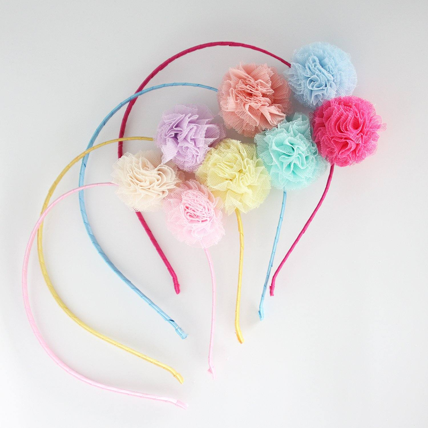 Double Pom Pom Headband