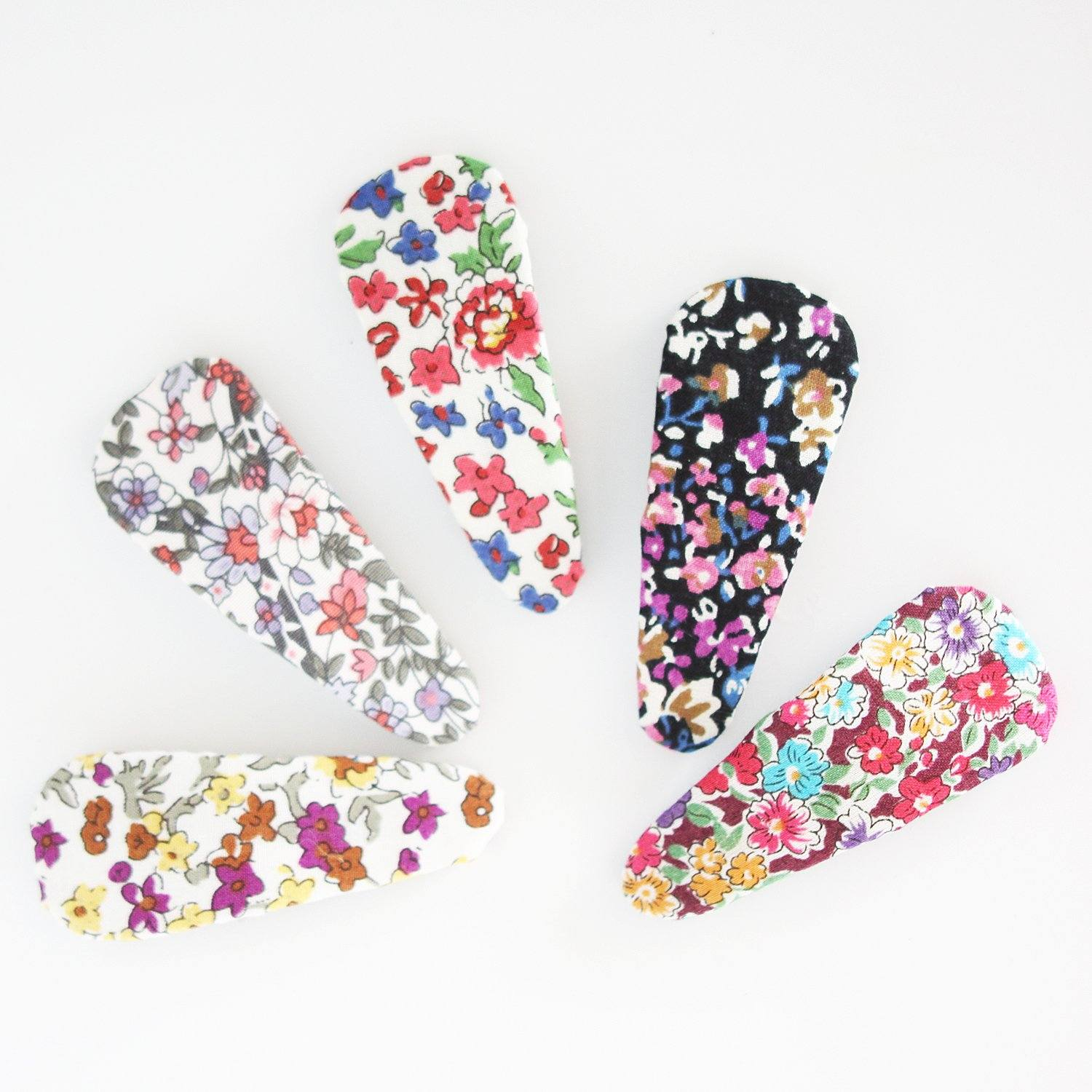 Jumbo Floral Snap Clip (5 Designs)