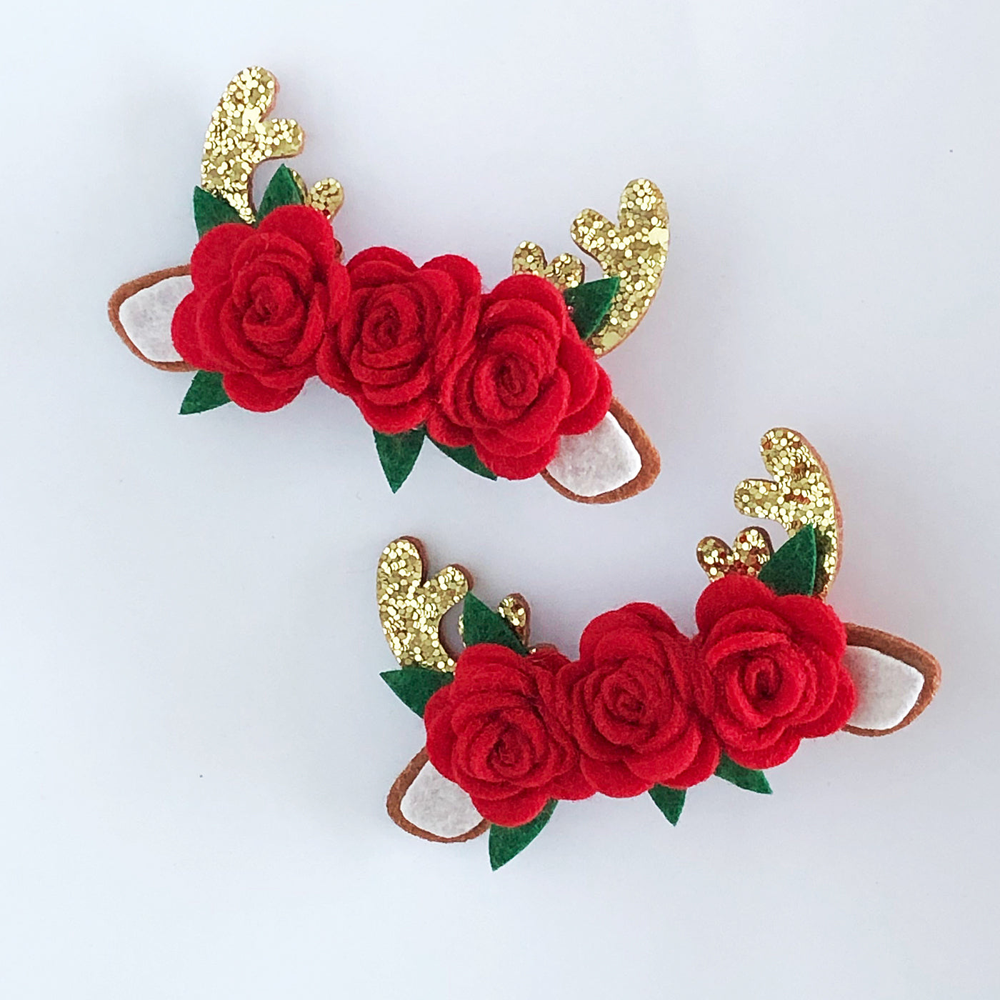 Little Rose Deer Hair Clip