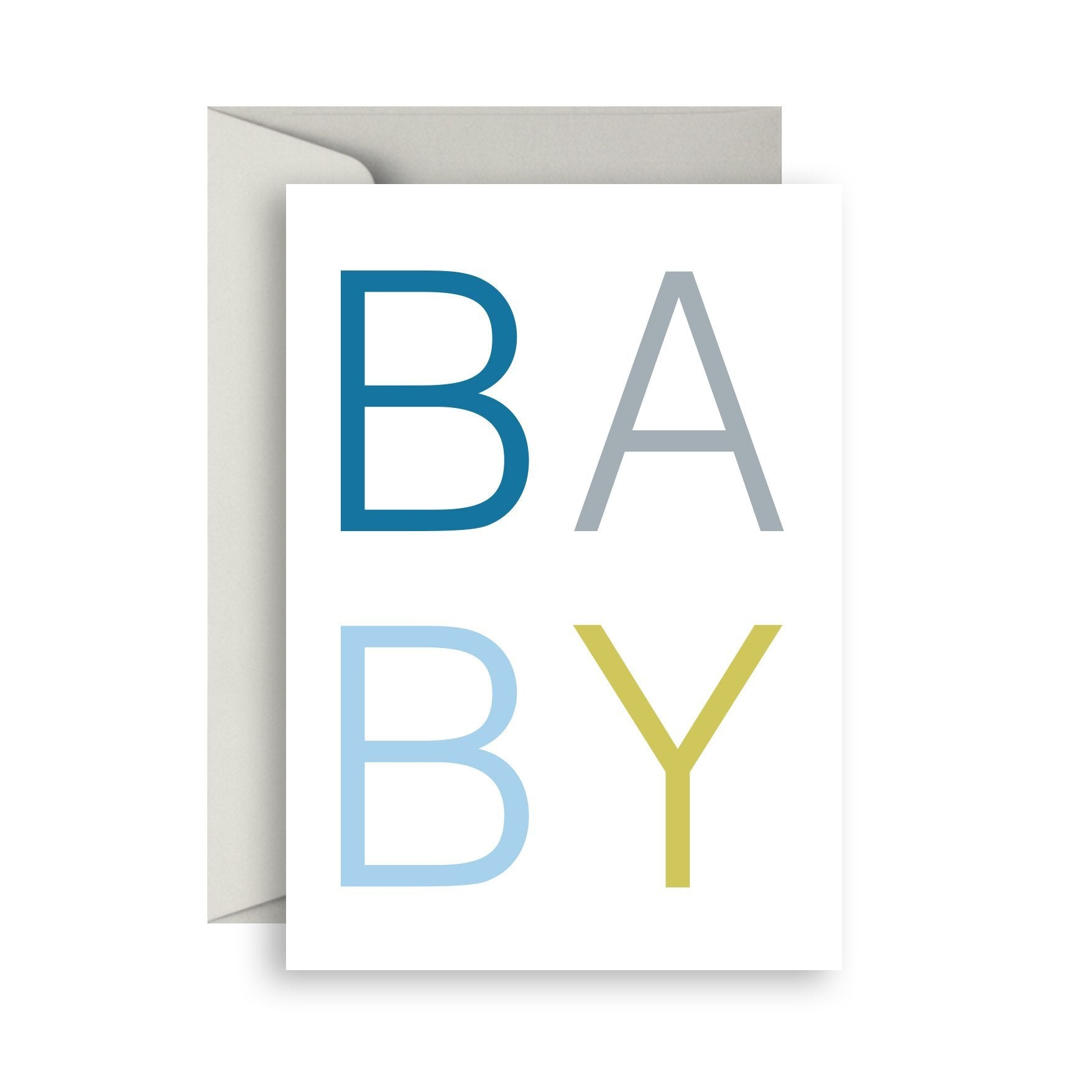 Scandi Baby Boy Greeting Card