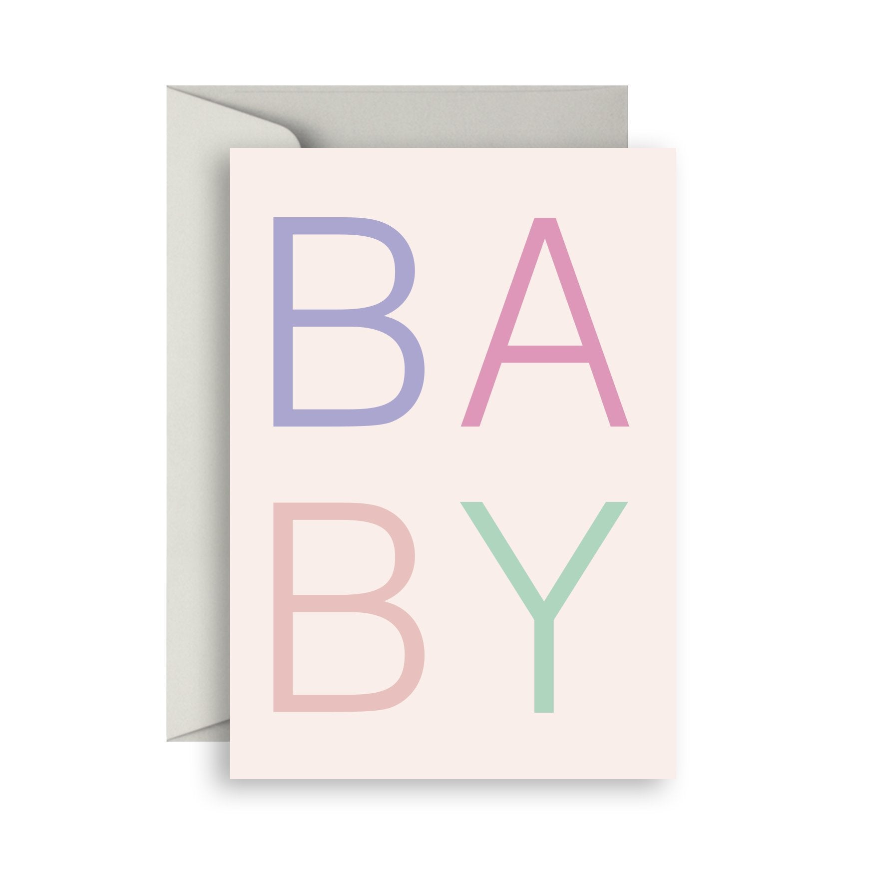 Scandi Baby Girl Greeting Card