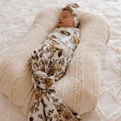 Goldie Blooms Jersey Swaddle Wrap