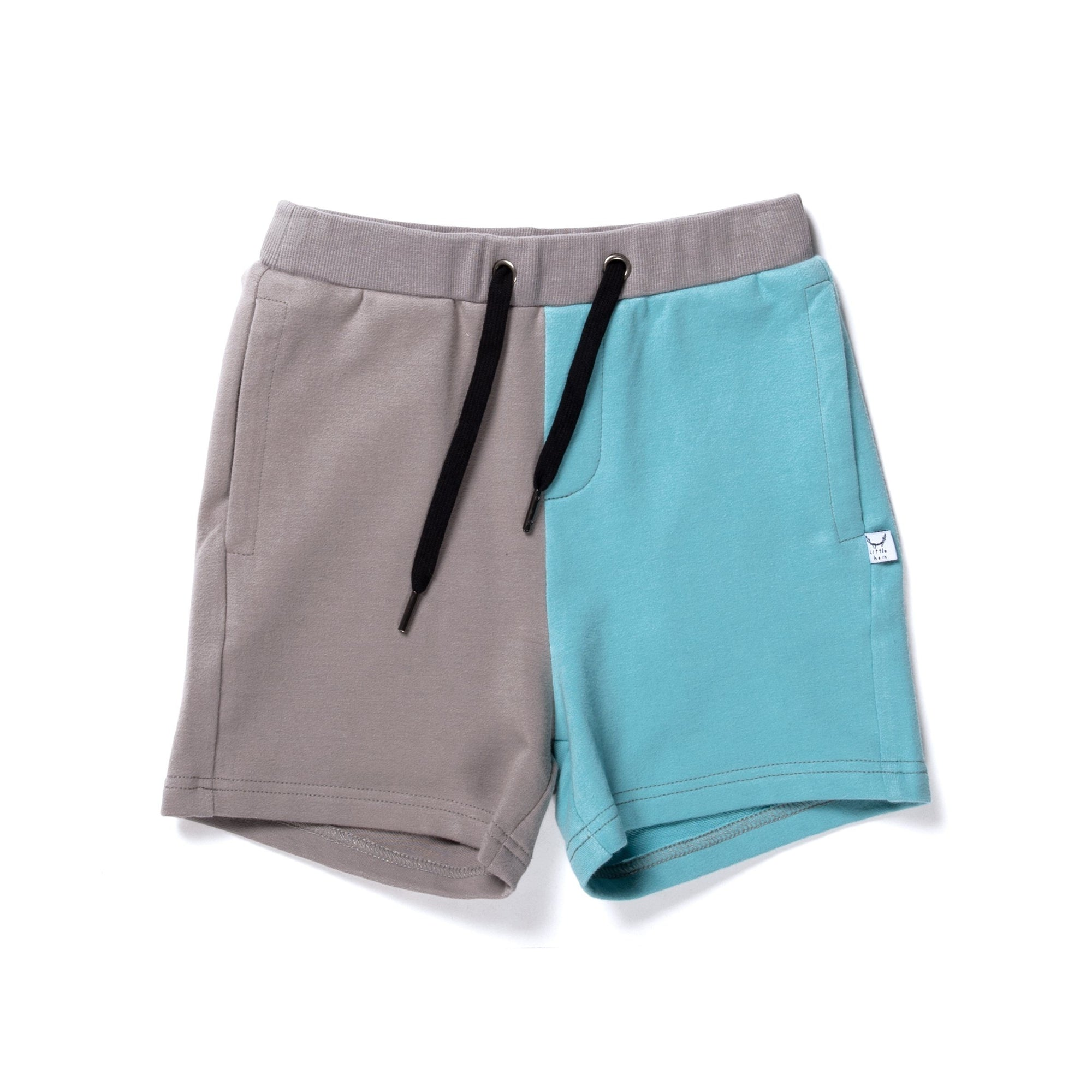Branded Sweat Short (Slate/Aqua)