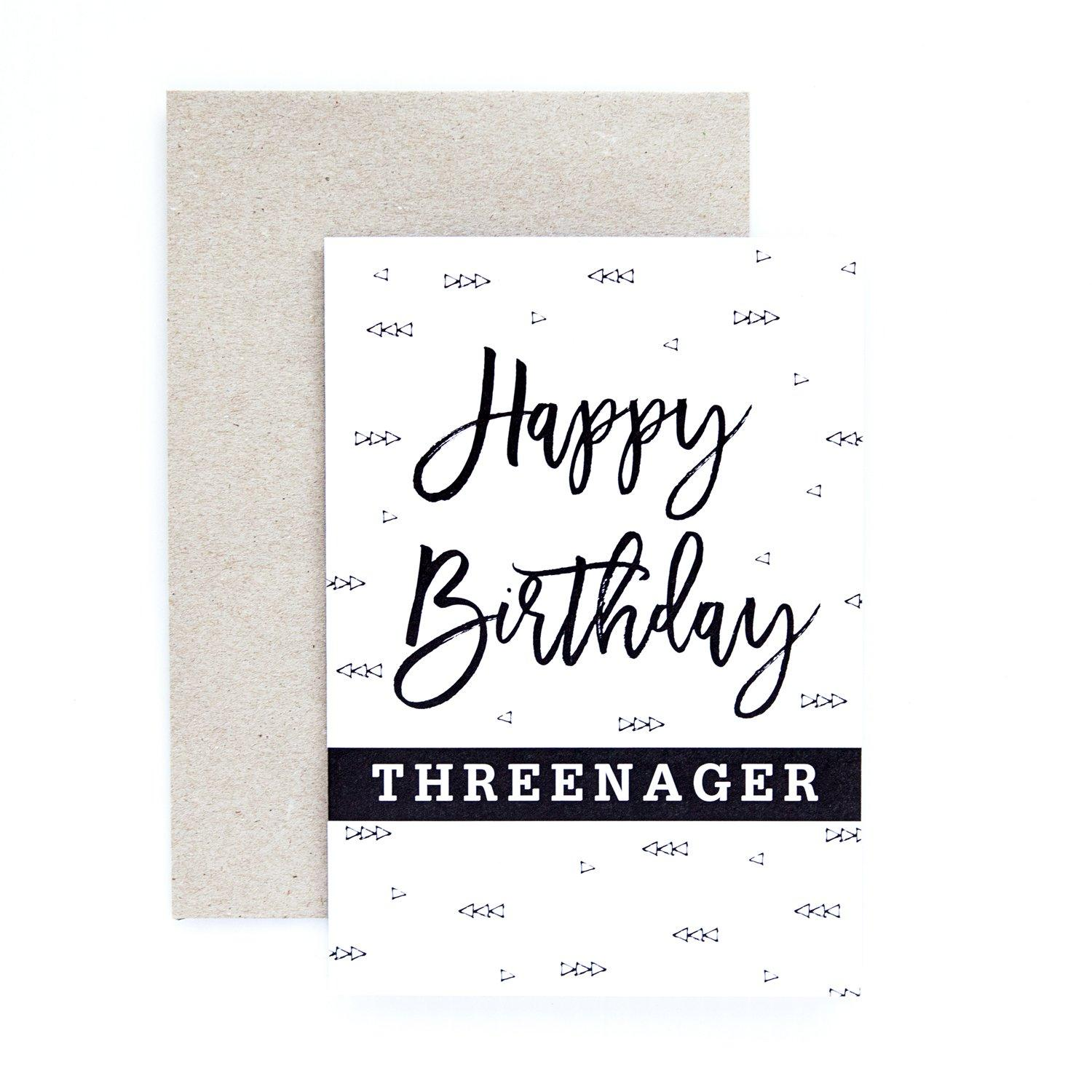 Threenager Greeting Card