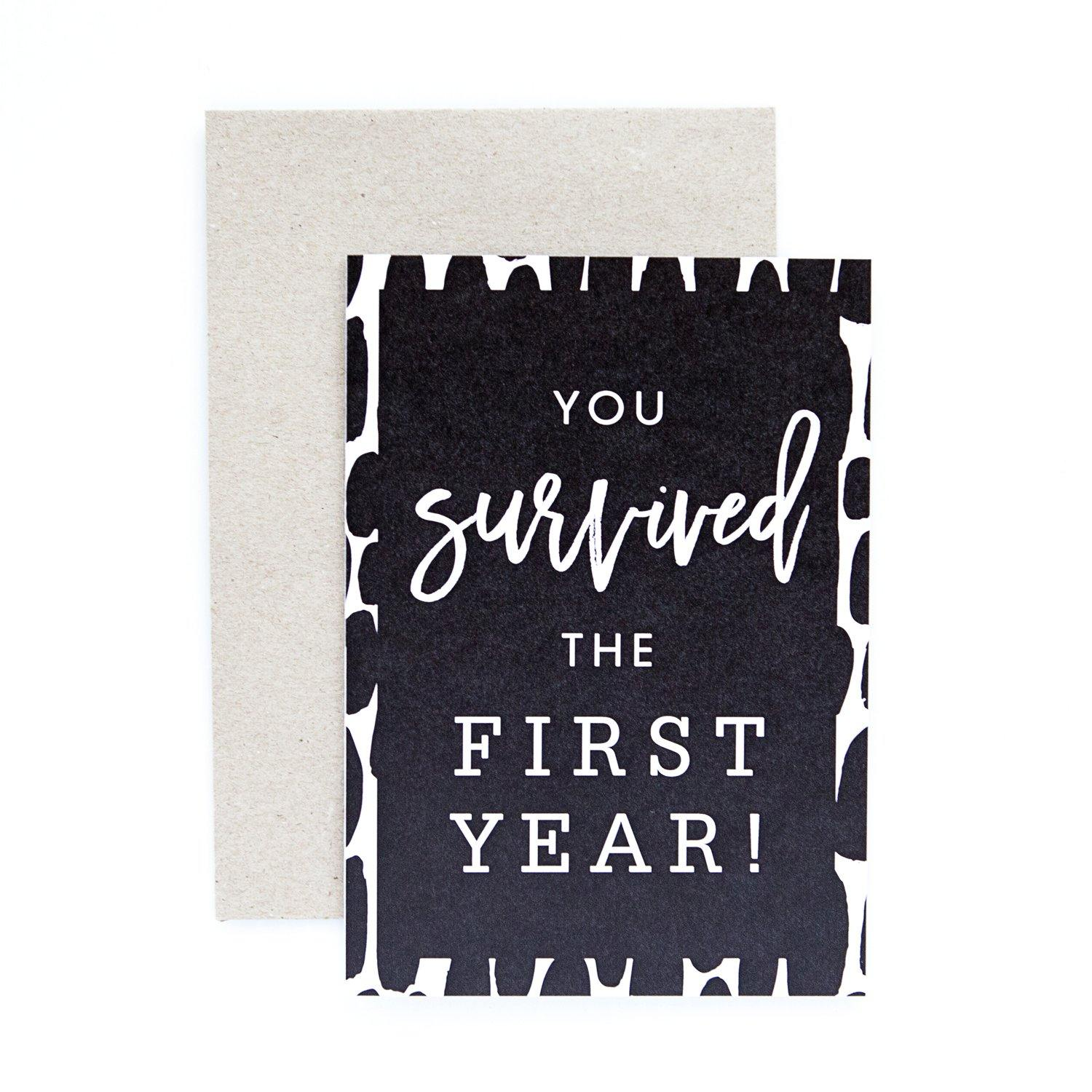 First Year Greeting Card