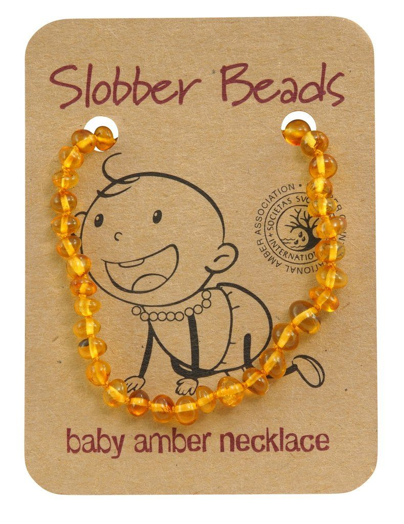 Amber Baby Teething Necklace (Lemon Round)