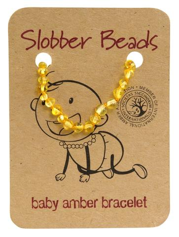 Amber Baby Teething Bracelet (Lemon Round)