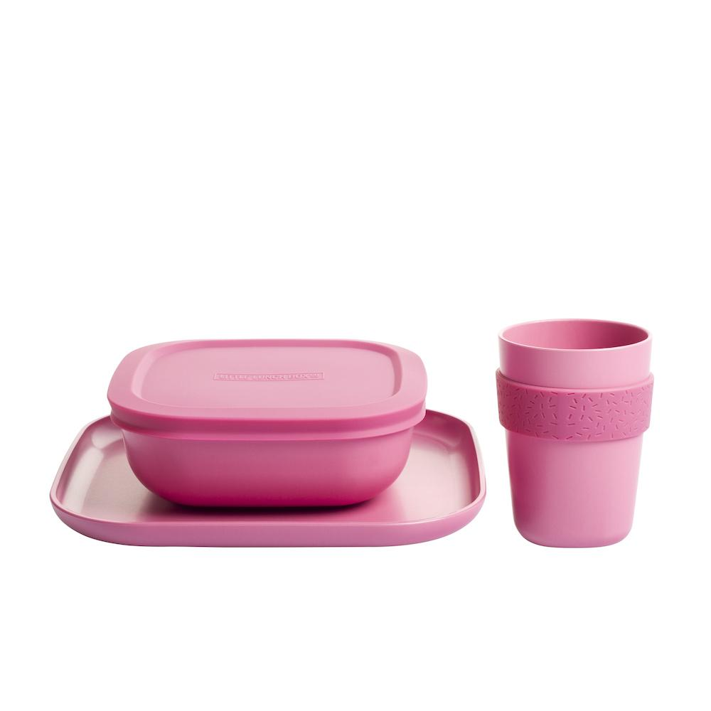 Bamboo Dinner Set (Blush Pink)
