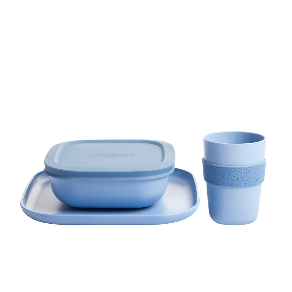 Bamboo Dinner Set (Marine Blue)