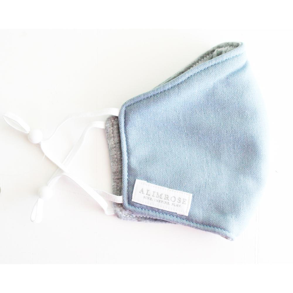 Face Mask (Blue/Grey Linen)