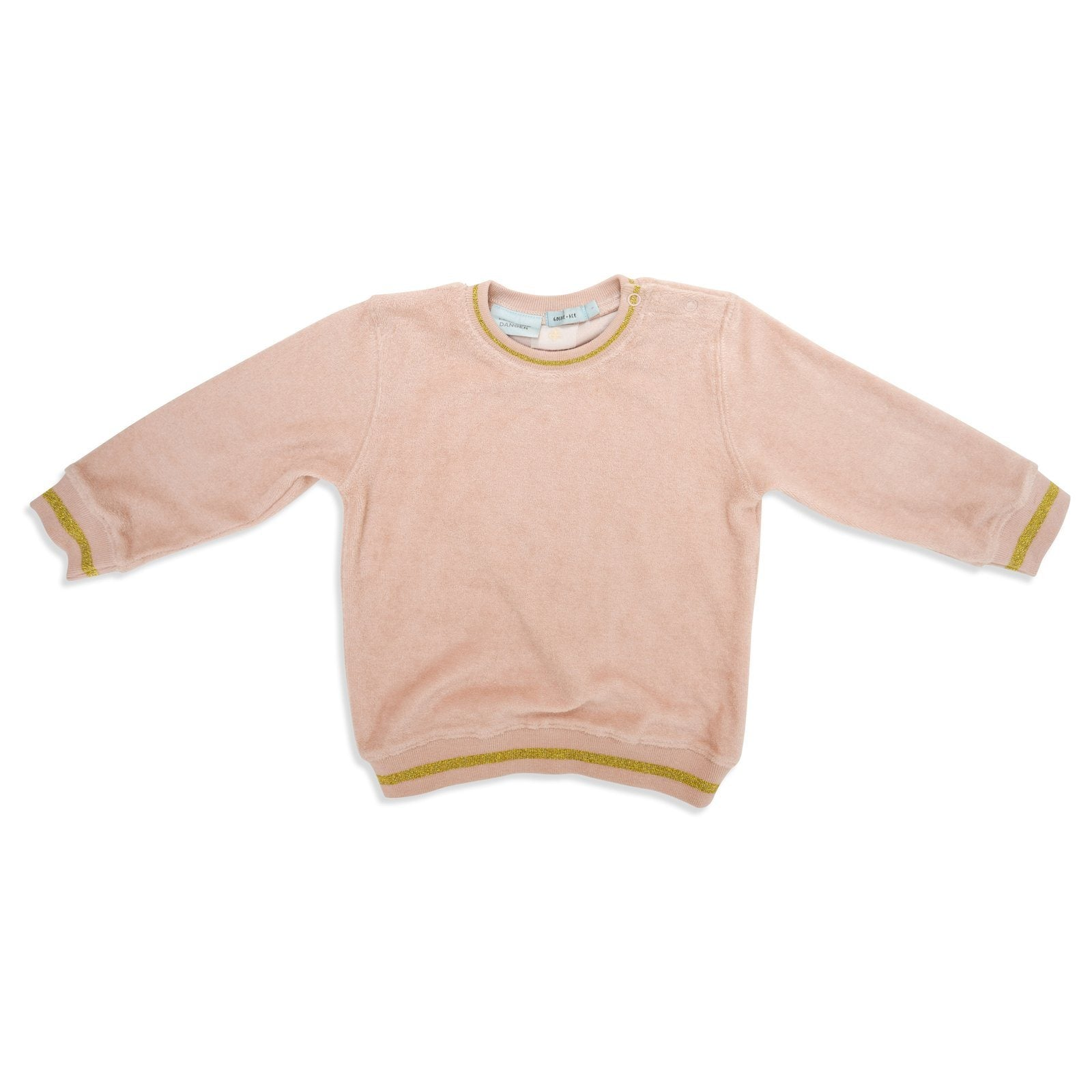Miami Terry Towelling Sweater (Rose Dust/Gold)
