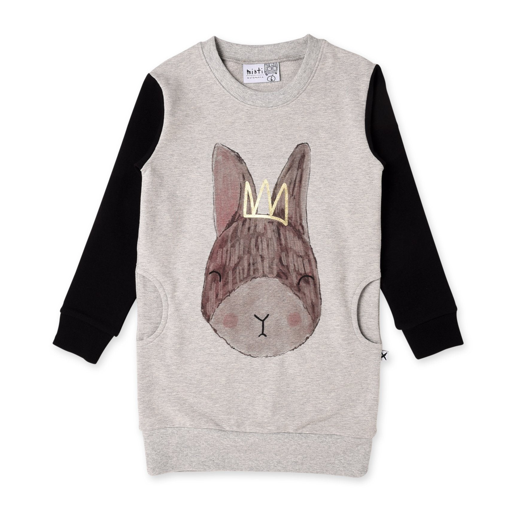 Sleepy Bunny Furry Crew Dress