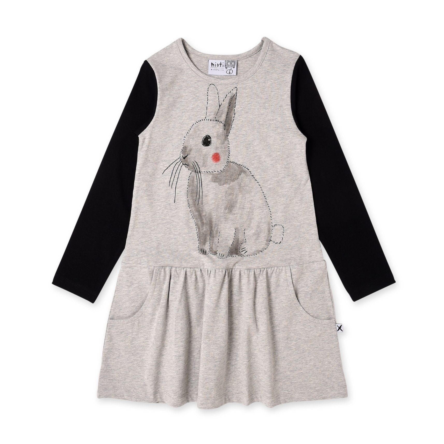 Watercolour Bunny Dress