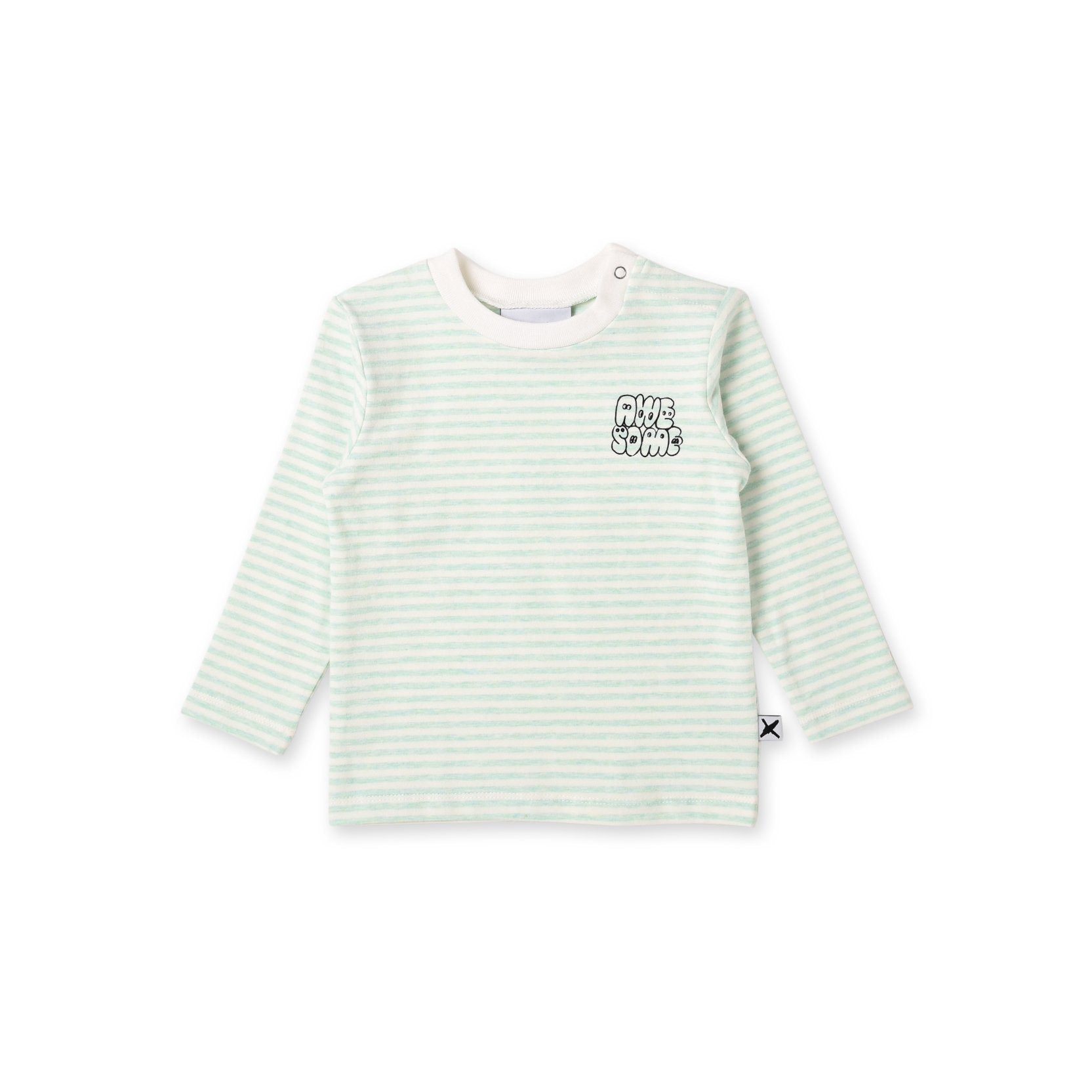 Awesome Baby Tee (Mint Stripe)