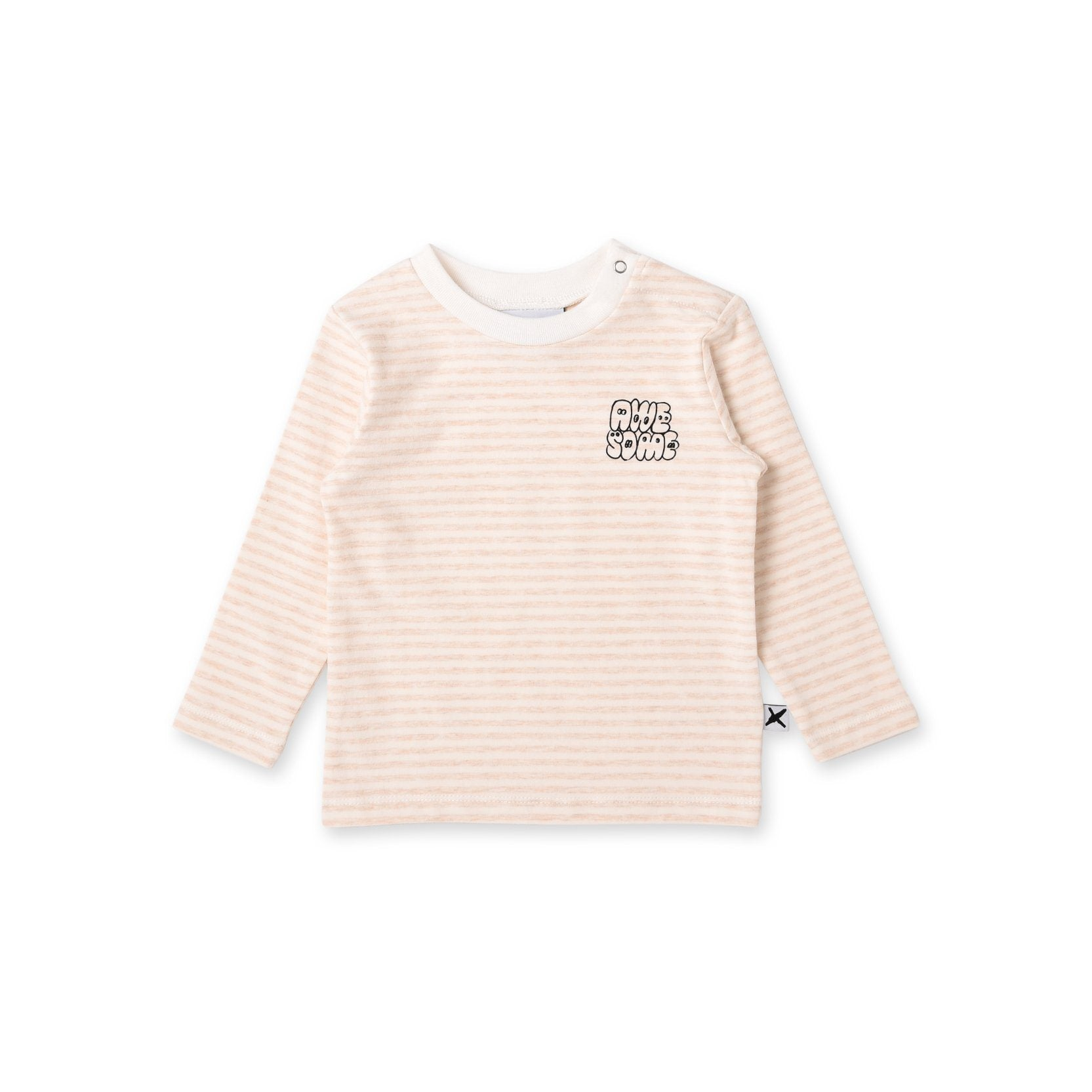 Awesome Baby Tee (Oat Stripe)