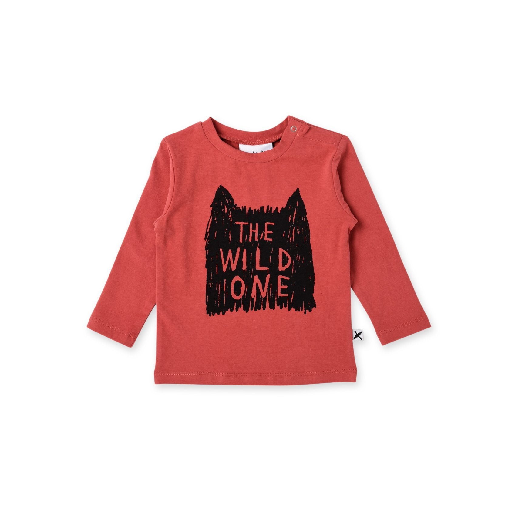 The Wild One Baby Tee (Currant)