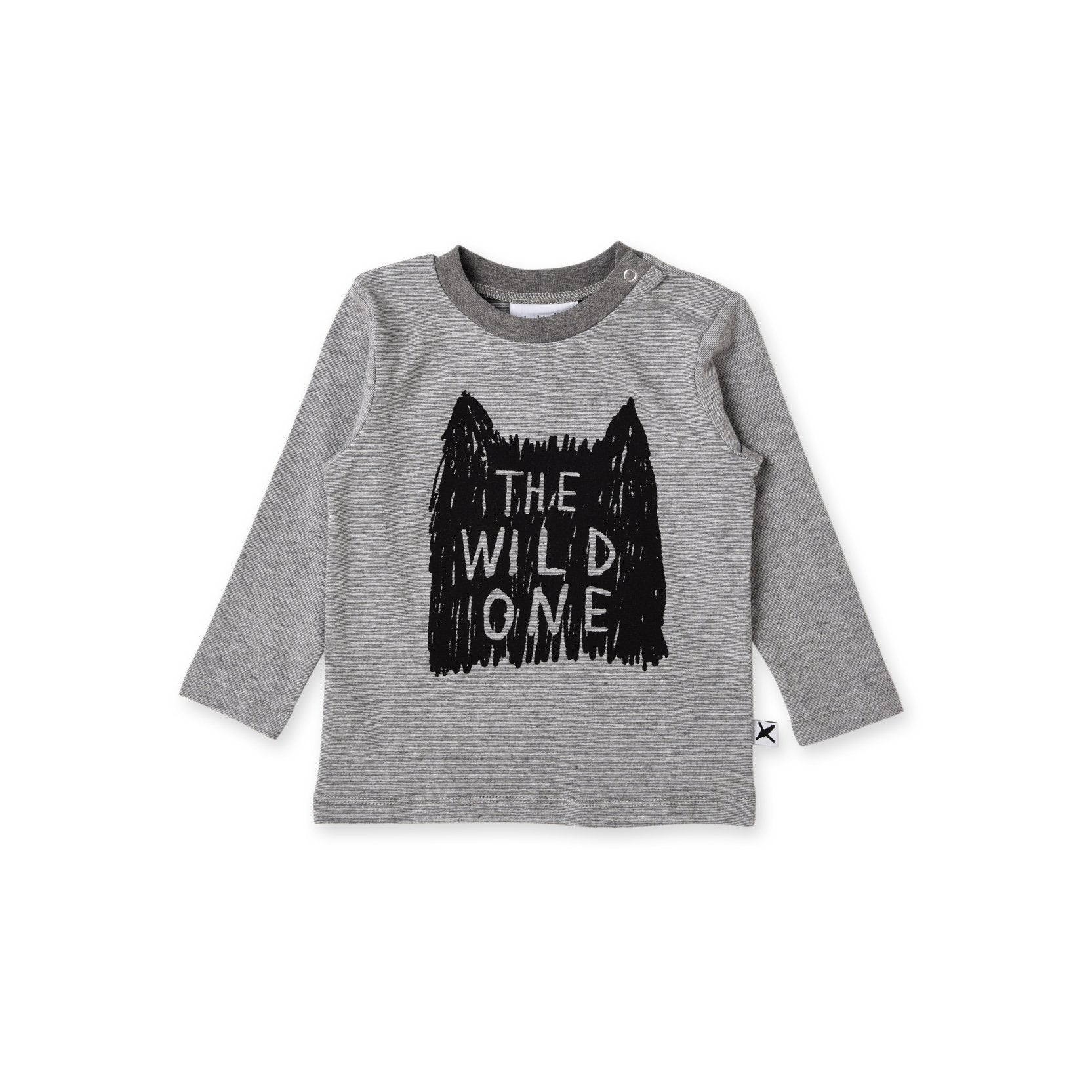 The Wild One Baby Tee (Grey Motley)