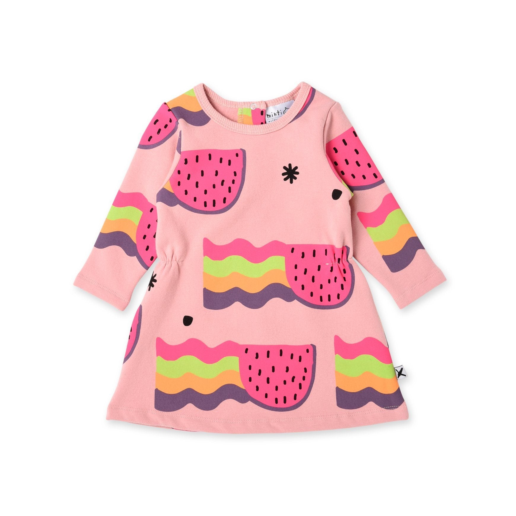 Watermelon Rainbows Furry Baby Dress