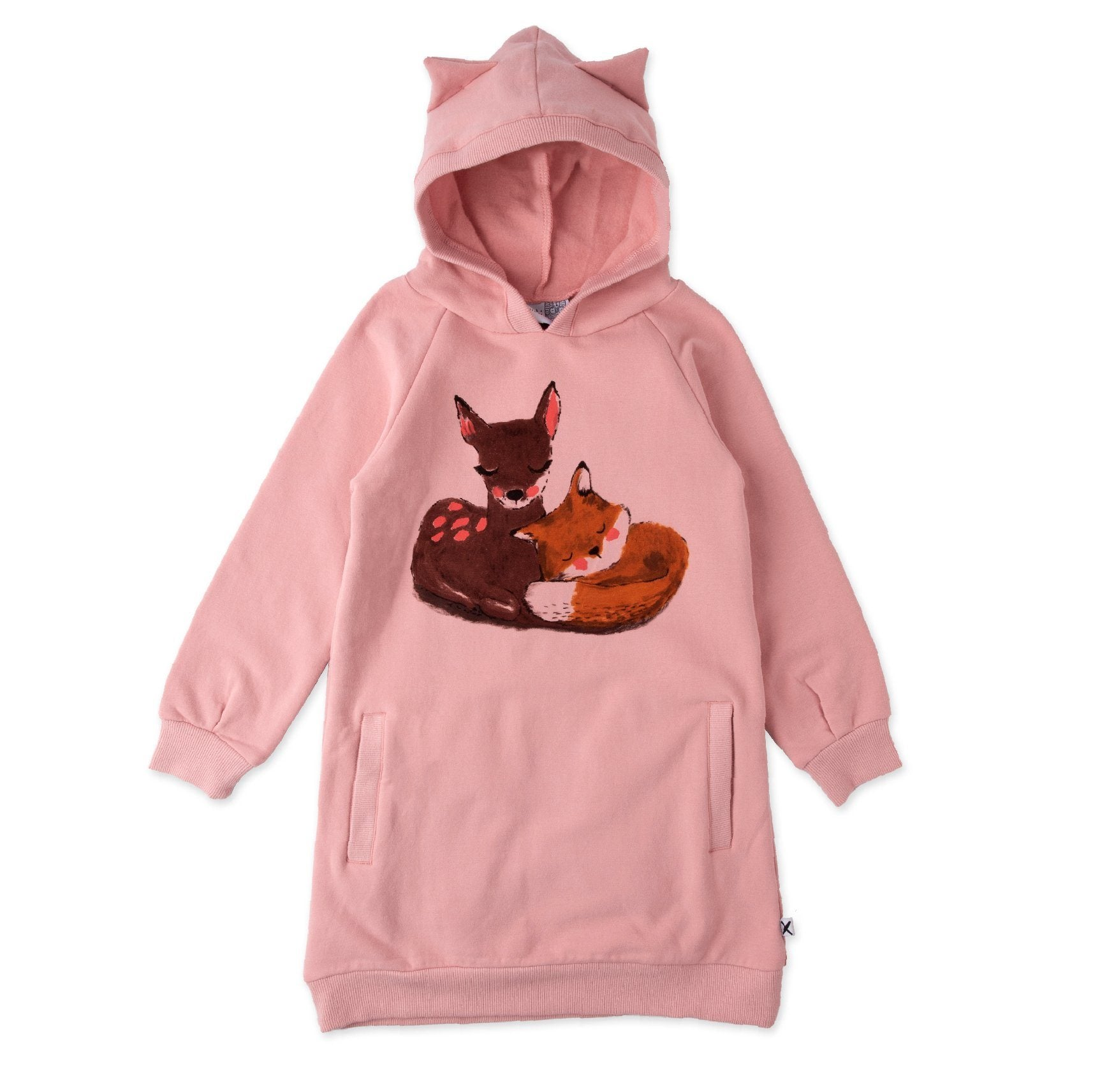 Forest Friends Furry Hoodie Dress