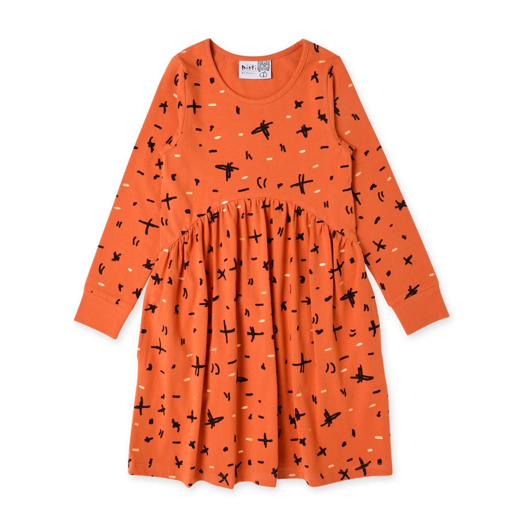 Crosses & Scribbles Dress