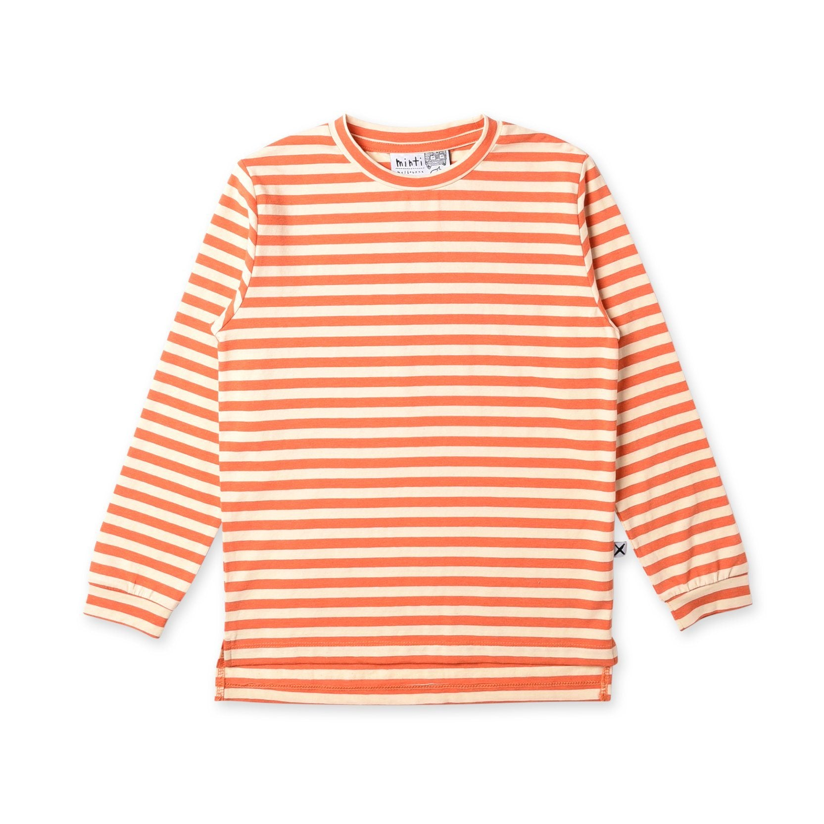 Split Tee (Orange Stripe)
