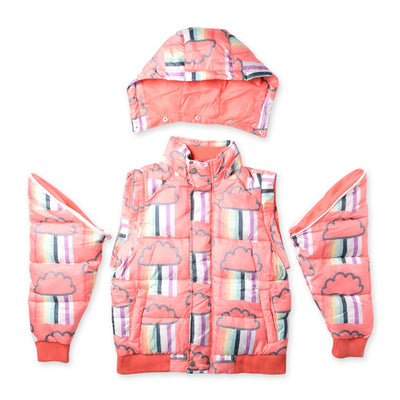 Raining Rainbows Puffa Jacket