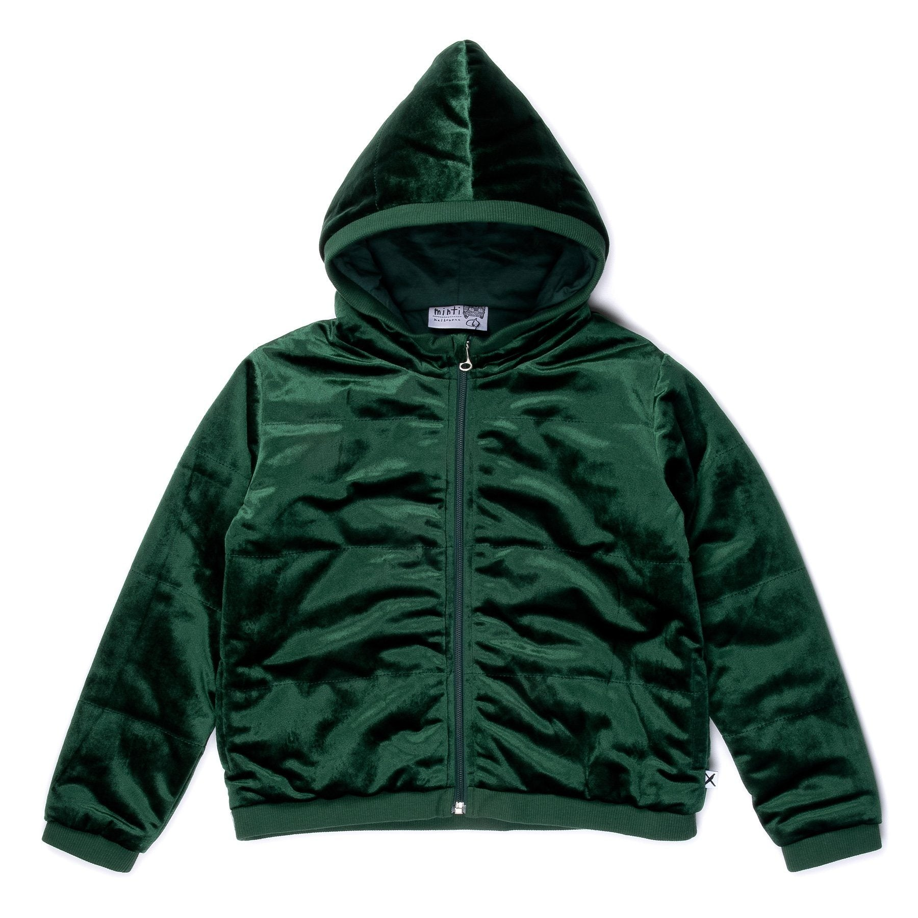 Padded Velvet Jacket (Emerald)