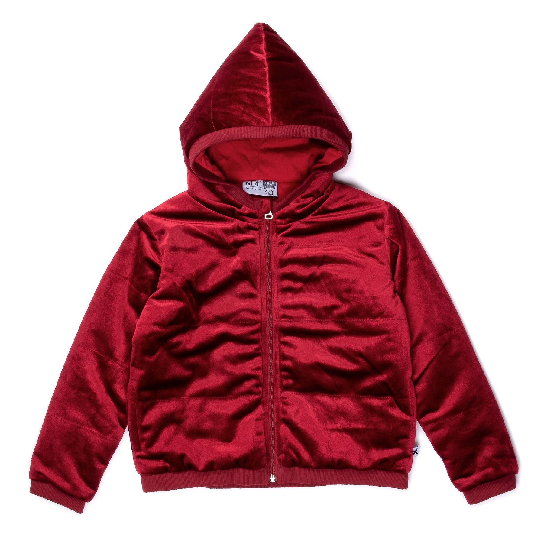 Padded Velvet Jacket (Ruby)
