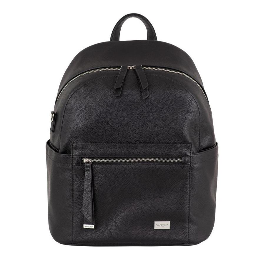 Manhatten Backpack/Nappy Bag (Black)