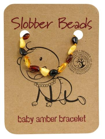 Amber Baby Teething Bracelet (Multi Oval)