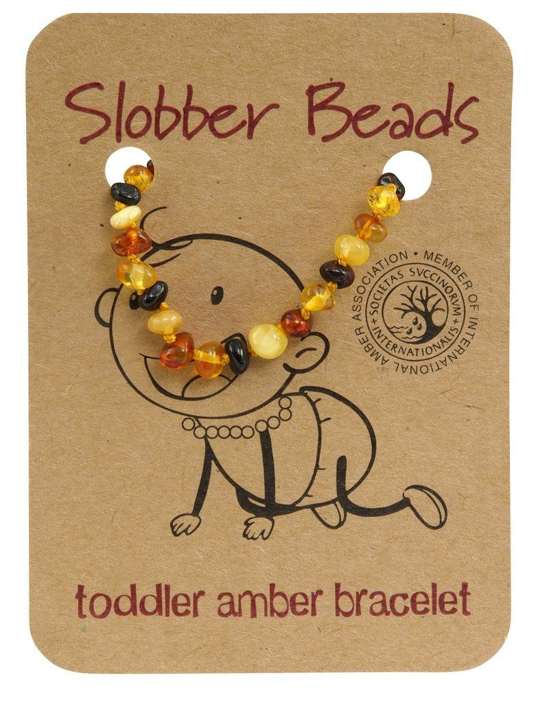 Amber Toddler Teething Bracelet (Multi Round)