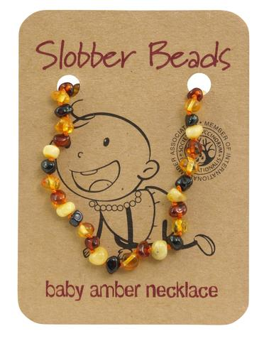 Amber Baby Teething Necklace (Multi Round)