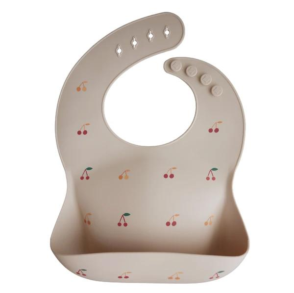 Mushie Silicone Bib (Cherries)