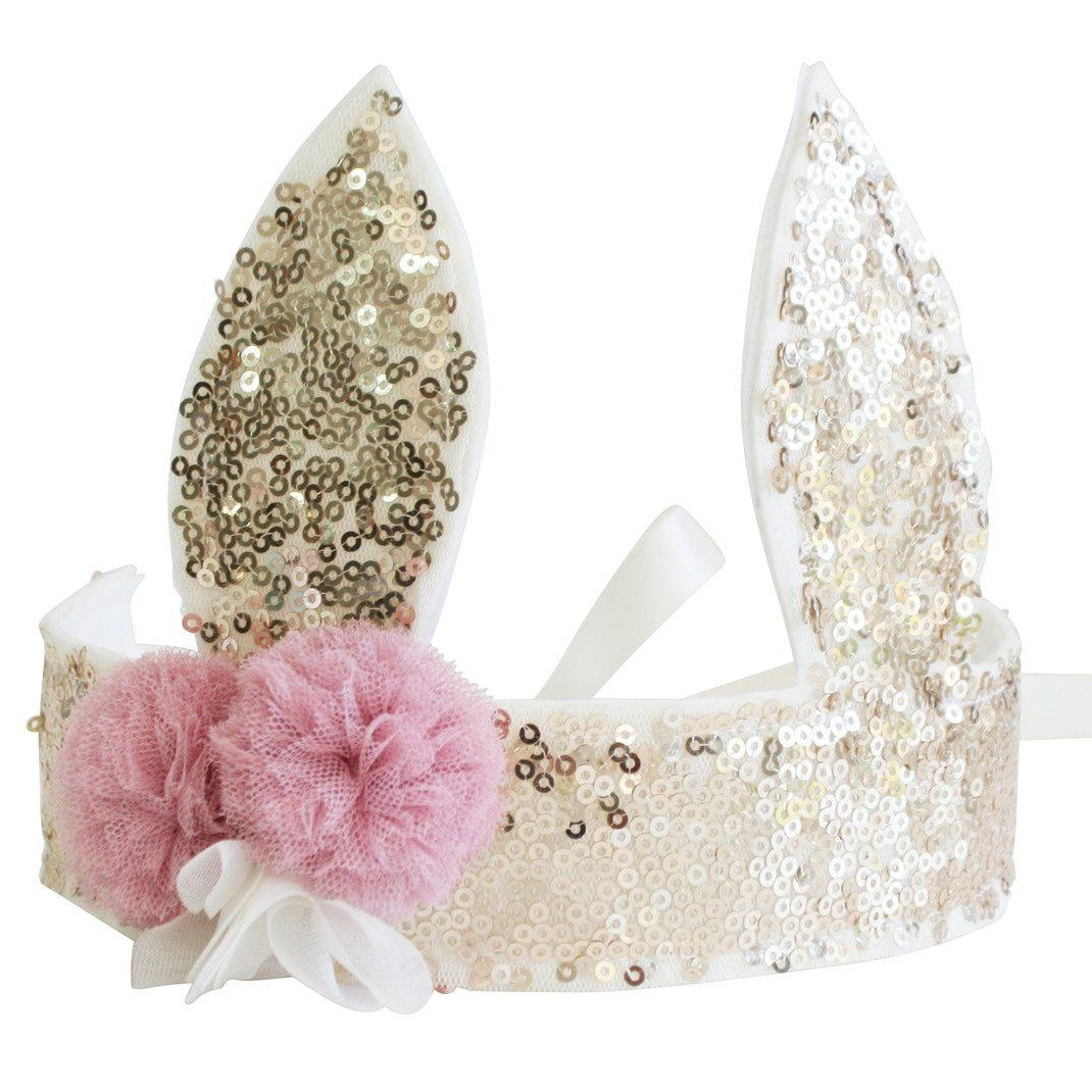 Sequin Bunny Crown (Gold)