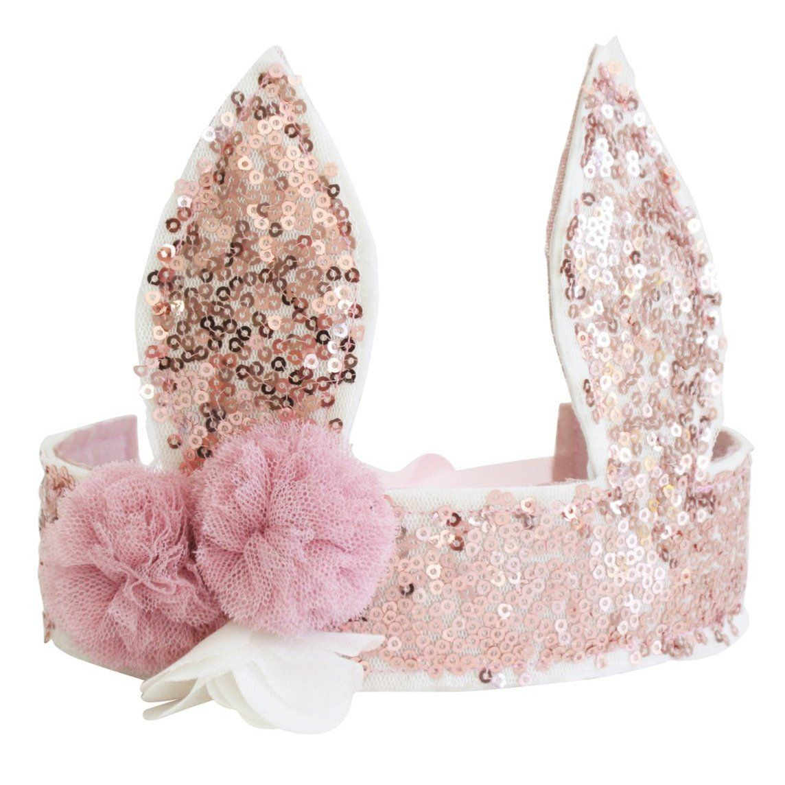 Sequin Bunny Crown (Rose Gold)