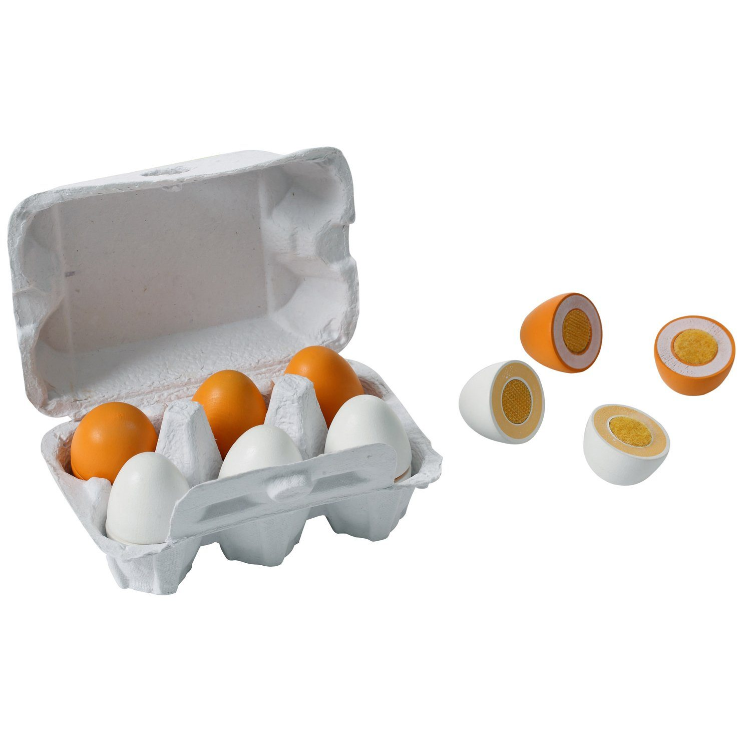 Wooden Velcro Eggs (6 Pack)