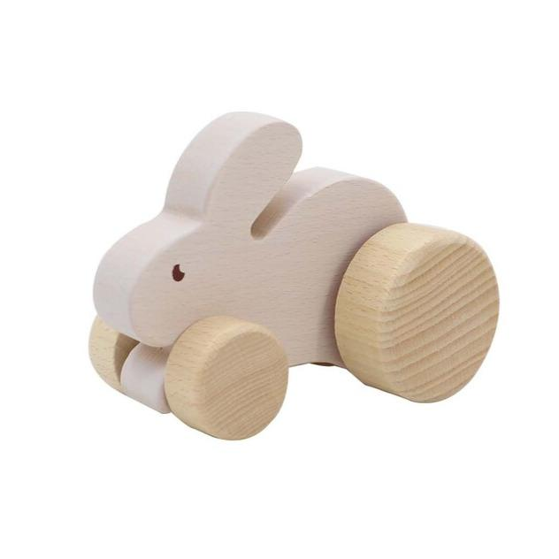 Wooden Animal Car (Rabbit)