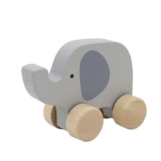 Wooden Animal Car (Elephant)