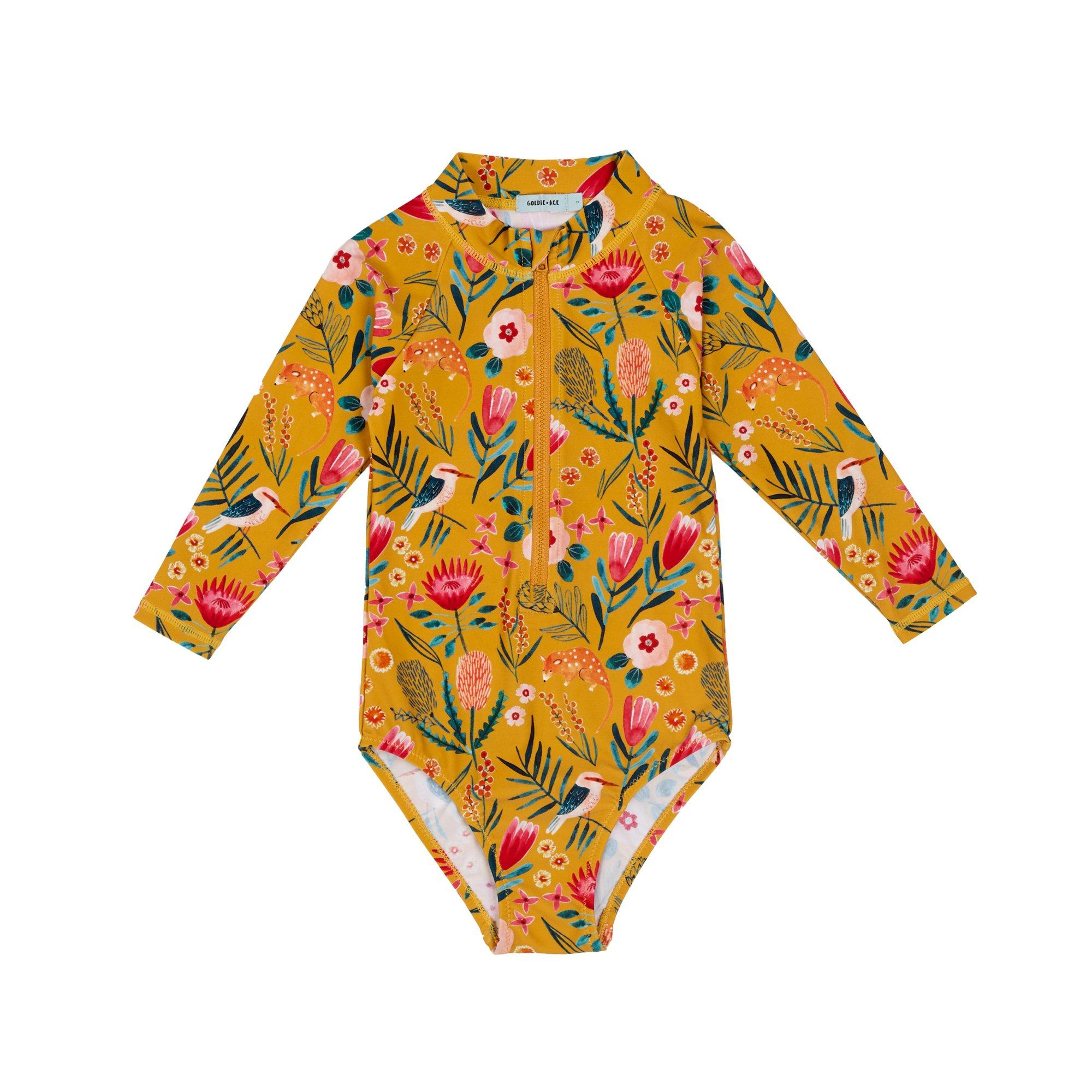 Native Garden Zip Up Sunsuit (Honey)