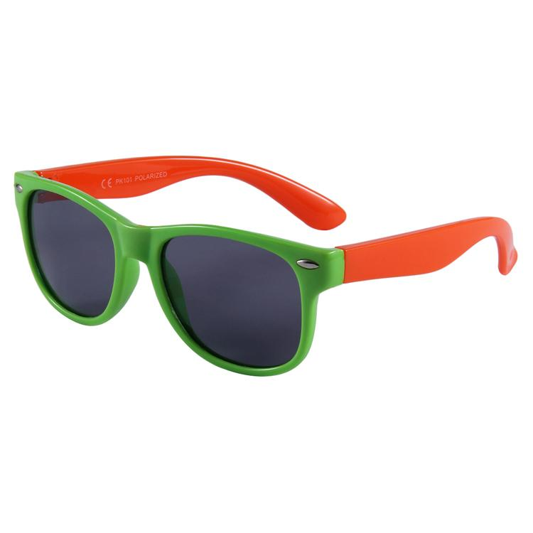 Cool Cat Sunglasses (Green/Orange)