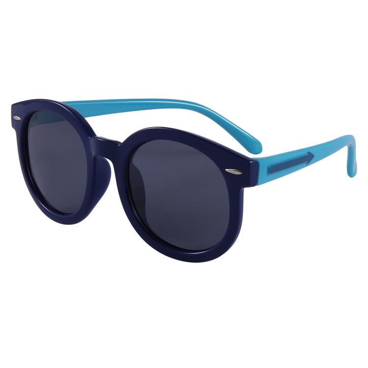 Shady Sunglasses (Black/Blue)