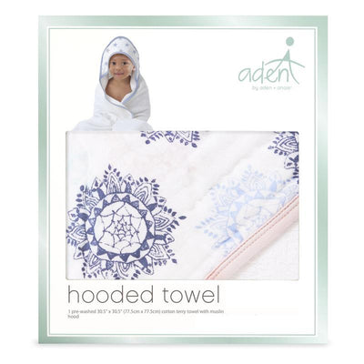 Pink Medallion Hooded Towel