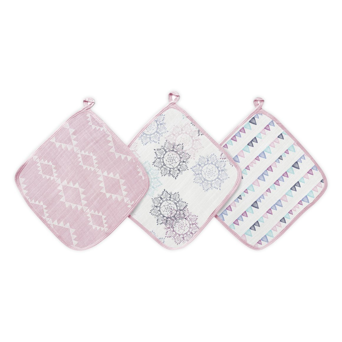 Pretty Pink Wash Cloths (3 Pack)