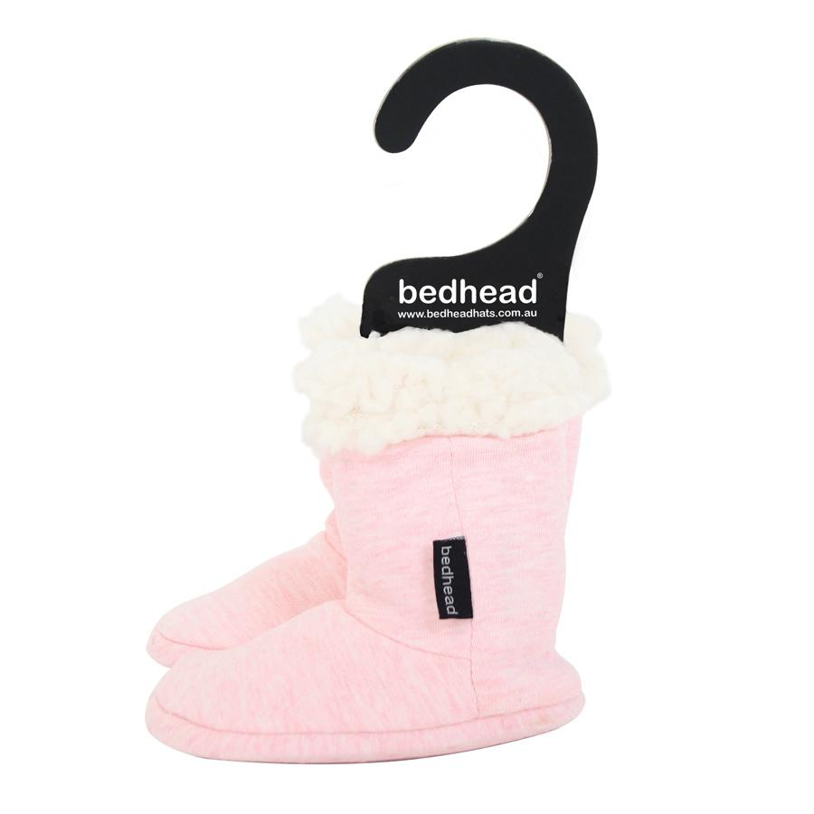Fleecy Sleepy Booties (Baby Pink Marle)
