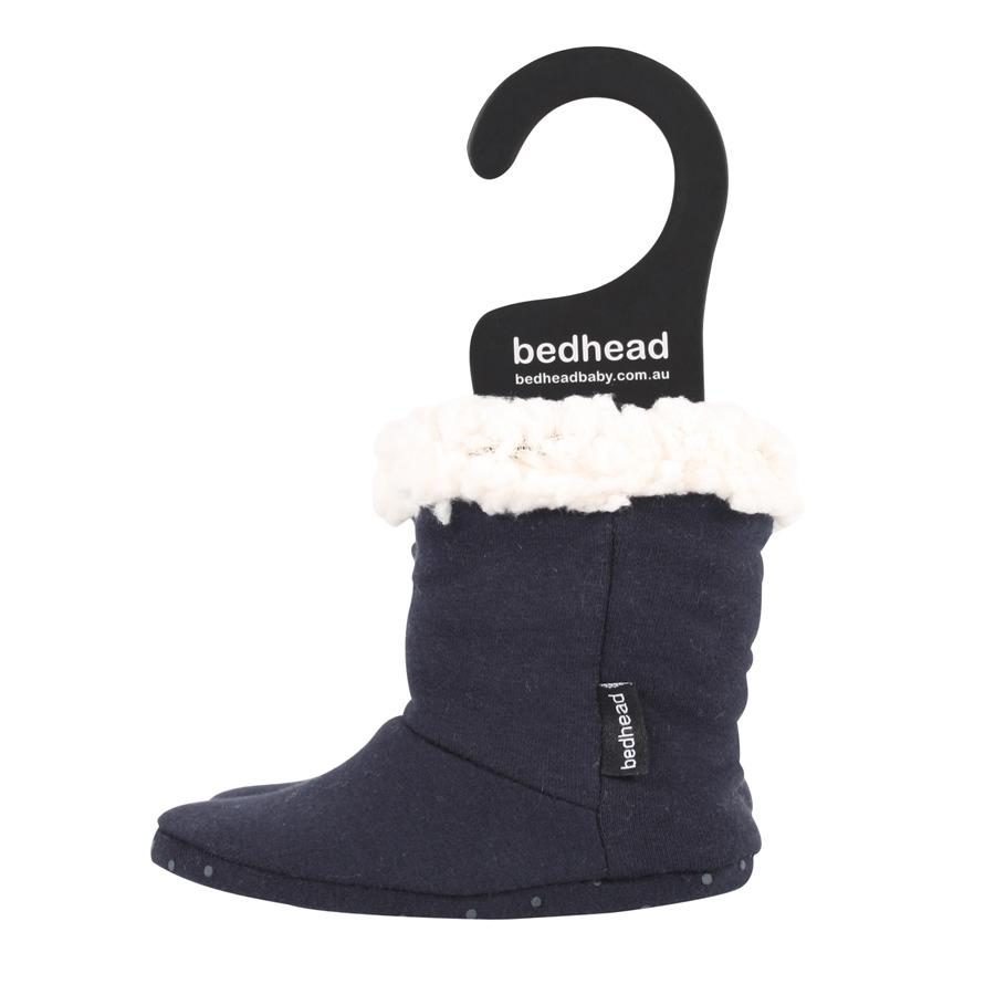 Fleecy Sleepy Booties (Navy)