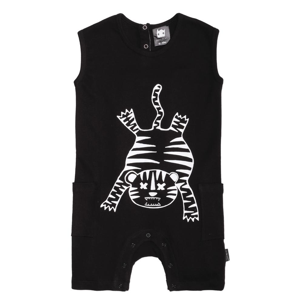 Tiger Outline Baby Romper
