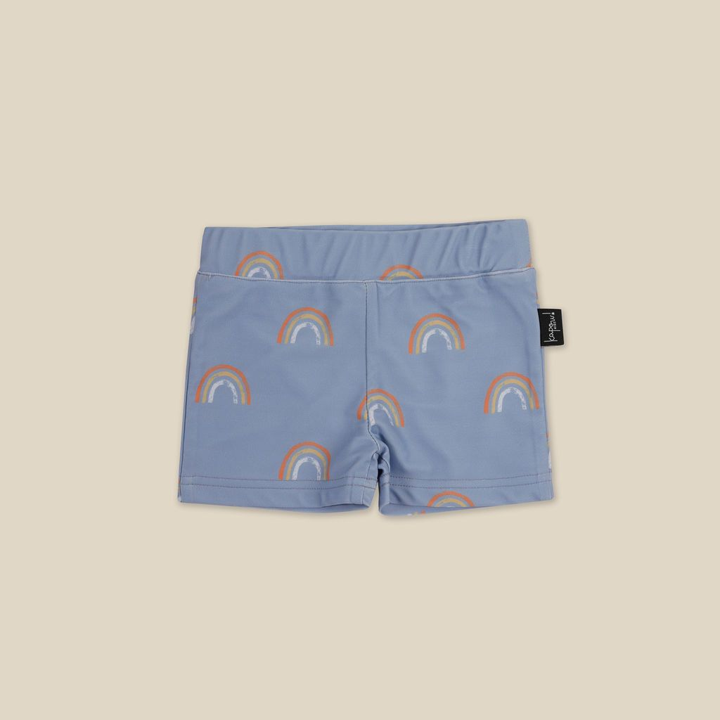 Rainbow Cornflower Swim Trunks
