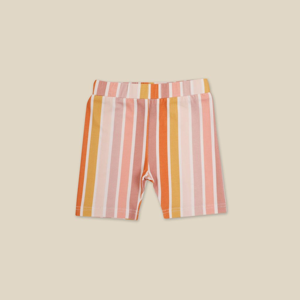 Beach Stripe Bike Shorts